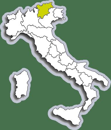 Mappa Trentino Alto Adige